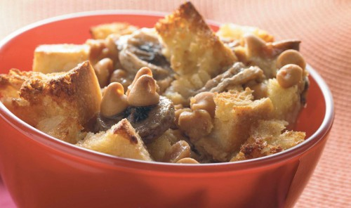 Peanut Butter Banana Bread Pudding