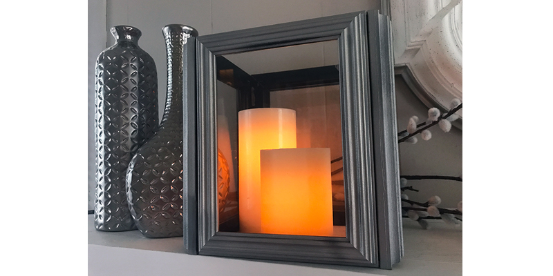 DIY: Frame Lanterns
