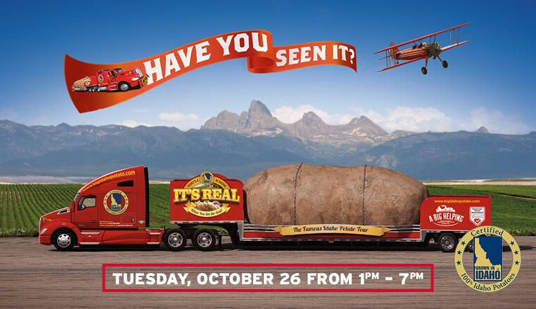 The Big Idaho Potato Truck at the Urbandale Machine Shed!